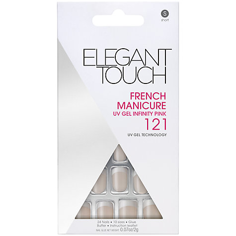 Buy Elegant Touch Short Length Classic French Nails Online at johnlewis.com