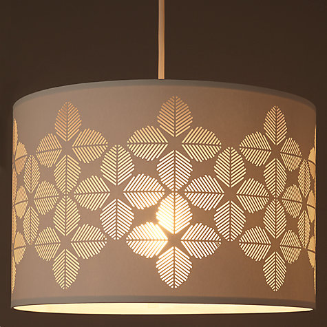 Buy John Lewis Fern Cutwork Drum Shade, Ivory Online at johnlewis.com