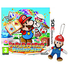 Buy Paper Mario: Sticker Star, 3DS with Mario Keyring Online at johnlewis.com