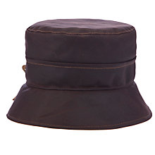 Buy Olney Celia Wax Split Brim Hat, Brown Online at johnlewis.com