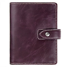 Buy Filofax Malden Leather Pocket Organiser, Purple Online at johnlewis.com