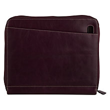 Buy Filofax Malden Zip Leather A5 Organiser, Purple Online at johnlewis.com