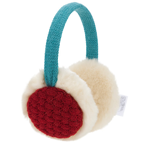 Buy John Lewis Girl Colourblock Ear Muffs, Cream/Multi Online at johnlewis.com