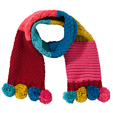 Buy John Lewis Girl Colourblock Scarf, Pink/Multi Online at johnlewis.com