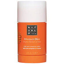 Buy Rituals Mandarin Bliss Organic Mandarin & Yuzu Deo Stick, 75ml Online at johnlewis.com