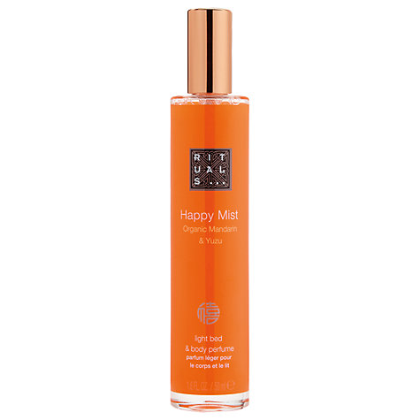 Buy Rituals Organic Mandarin & Yuzu Happy Mist Light Body Perfume, 50ml Online at johnlewis.com