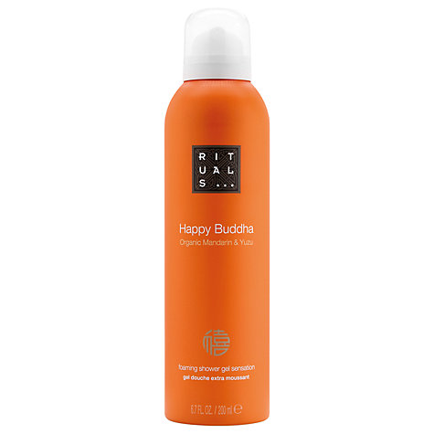 Buy Rituals Happy Buddha Organic Mandarin & Yuzu Shower Foam, 200ml Online at johnlewis.com