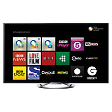 Buy Sony Bravia KDL55W905ABU LED HD 1080p 3D Smart TV, 55 Inch, NFC with Freeview HD and 4x 3D Glasses Online at johnlewis.com