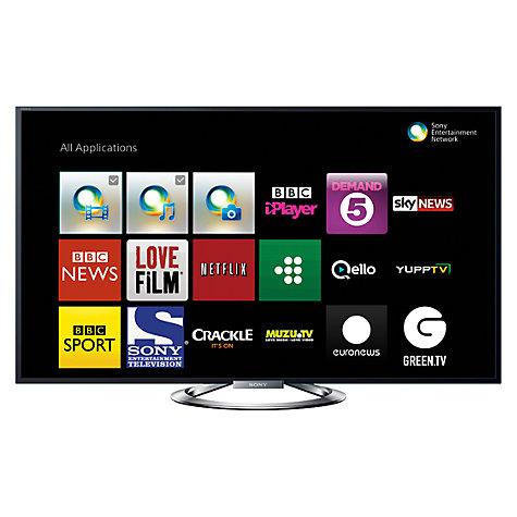 "Buy Sony Bravia KDL55W905 LED HD 1080p 3D Smart TV, 55"", NFC with Freeview HD and 4x 3D Glasses with FREE BDP-S5100 Smart 3D Blu-ray Disc/DVD Player Online at johnlewis.com"