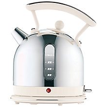 Buy Dualit Dome Kettle and NewGen Toaster, 4-Slice, Canvas White Online at johnlewis.com