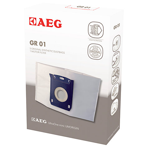Buy AEG Ultra One Mini Vacuum Cleaner Bags and Motorfilter, Pack of 4 Online at johnlewis.com