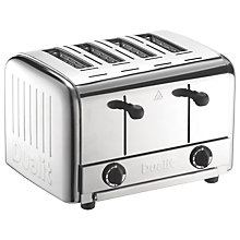 Buy Dualit 49900 4-Slice Pop Up Toaster, Stainless Steel Online at johnlewis.com