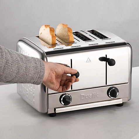 Buy Dualit 4-Slice Pop Up Toaster, Stainless Steel Online at johnlewis.com