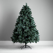 Buy John Lewis Glitter Tip Christmas Tree, Blue Pine, 7ft Online at johnlewis.com