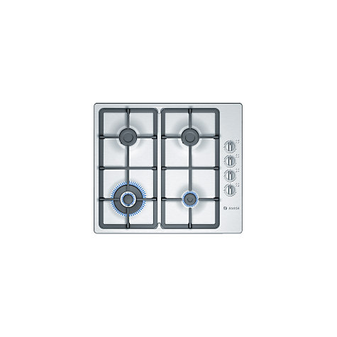 Buy Bosch PBH615B90E Gas Hob, Brushed Stainless Steel Online at johnlewis.com