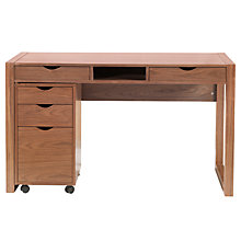 Buy John Lewis Logan Desk & Loft Cabinet, Walnut Online at johnlewis.com