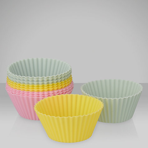 Buy John Lewis Silicone Cake Cases, Dia.7cm, 12 Pieces Online at johnlewis.com