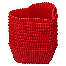 Buy John Lewis Heart Silicone Cake Cases, 12 pieces Online at johnlewis.com
