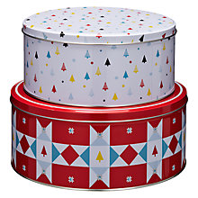 Buy John Lewis Woodland Wonder Cake Tins, Set of 2 Online at johnlewis.com