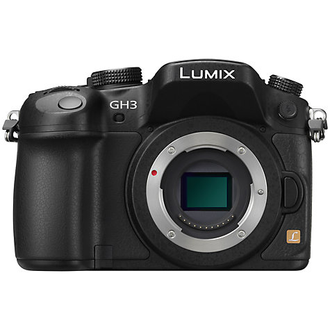 "Buy Panasonic DMC-GH3 Compact System Camera with 12-35mm Power OIS Lens, HD 1080p, 16.05MP, Wi-Fi, 3"" OLED Screen and EVF Online at johnlewis.com"