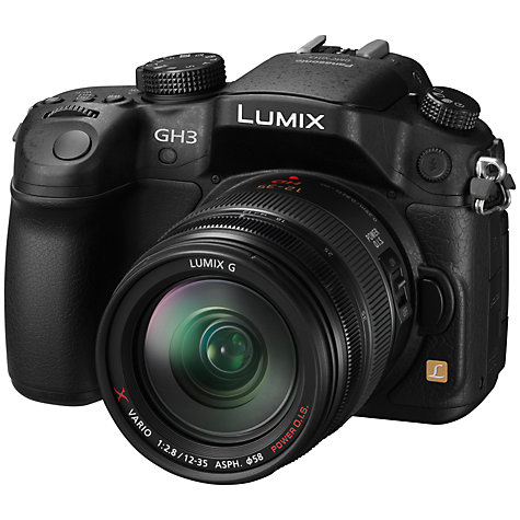 "Buy Panasonic Lumix DMC-GH3 Compact System Camera with 12-35mm Power OIS Lens, HD 1080p, 16.05MP, Wi-Fi, 3"" OLED Screen and EVF Online at johnlewis.com"
