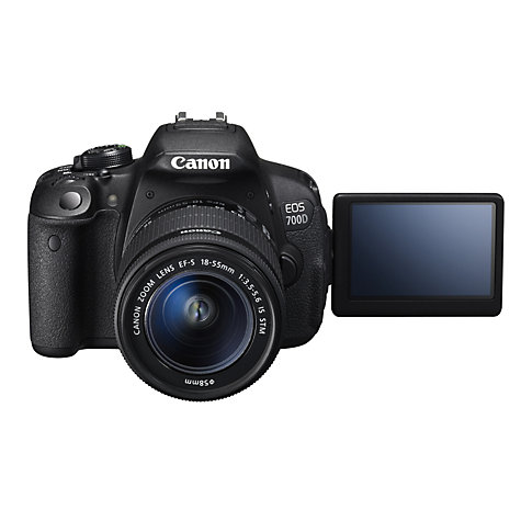 "Buy Canon EOS 700D Digital SLR Camera with 18-55mm STM & 55-250mm Lenses, HD 1080p, 18MP, 3"" LCD Touch Screen Online at johnlewis.com"