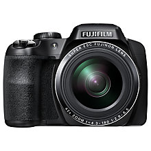 "Buy Fujifilm FinePix S8300, Bridge Camera, HD 1080p, 16.2MP, 42x Optical Zoom, EVF, 3"" LCD Screen, Black with 16GB + 8GB Memory Card Online at johnlewis.com"