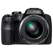"Buy Fujifilm Finepix SL1000 Bridge Camera, HD 1080p, 16.2MP, 50x Optical Zoom, 3"" LCD Screen, Black Online at johnlewis.com"