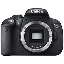 "Buy Canon EOS 700D Digital SLR Camera, HD 1080p, 18MP, 3"" LCD Touch Screen, Body Only with FREE Gadget Bag Online at johnlewis.com"