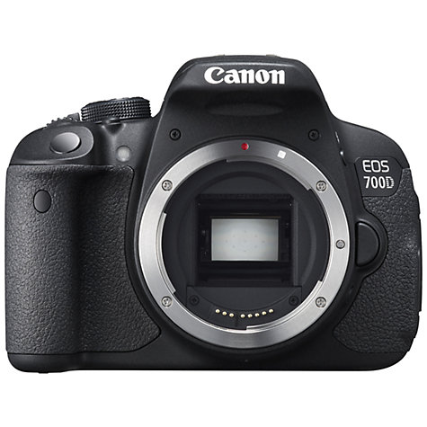 "Buy Canon EOS 700D Digital SLR Camera, HD 1080p, 18MP, 3"" LCD Touch Screen, Body Only Online at johnlewis.com"