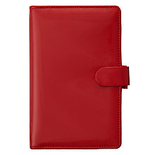 Buy Filofax Compact Patent Organiser, Red Online at johnlewis.com