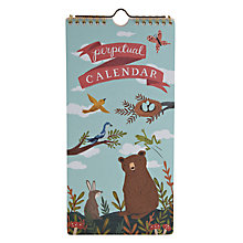 Buy Chronicle Books Forest Friends Perpetual Calendar Online at johnlewis.com