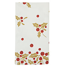 Buy John Lewis Holly Disposable Paper Table Cover, Gold Online at johnlewis.com