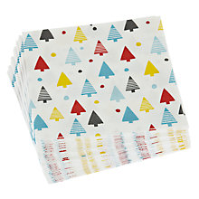 Buy John Lewis Christmas Tree Cocktail Paper Napkins, Pack of 20 Online at johnlewis.com