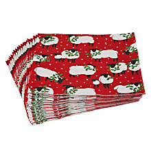 Buy Caspari Ltd Holly Sheep Disposable Cocktail Napkins, Pack of 20 Online at johnlewis.com