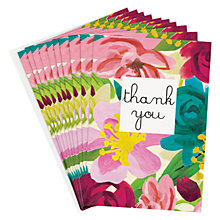 Buy Caroline Gardner Bright Floral Thank You Notecards, Pack of 8 Online at johnlewis.com