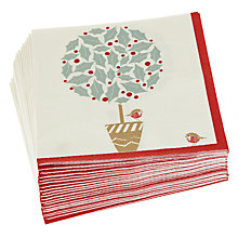 Buy John Lewis Holly Tree Lunch Paper Napkins, Pack of 20 Online at johnlewis.com