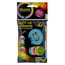 Buy Illoom LED Balloons Faces, Pack of 5 Online at johnlewis.com