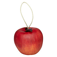 Buy John Lewis Decorative Apple with Leather Leaf Online at johnlewis.com
