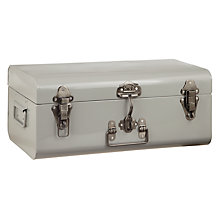 Buy John Lewis Buckle Trunk, Medium, Flint/ Pewter Online at johnlewis.com
