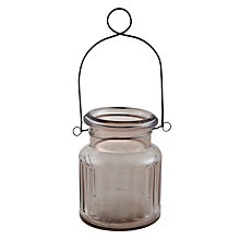 Buy John Lewis Hanging Jar Tealight Holder Online at johnlewis.com