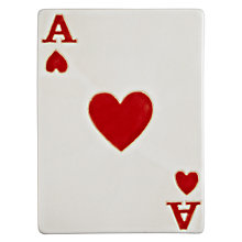 Buy John Lewis Ceramic Playing Card, Large Online at johnlewis.com