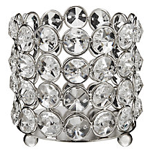 Buy John Lewis Crystal Bead Tealight Holder Online at johnlewis.com