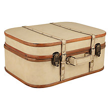 Buy John Lewis Faux Leather Trunk, Large Online at johnlewis.com