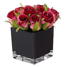 Buy Roses in a Cube, Dark Pink, Small Online at johnlewis.com