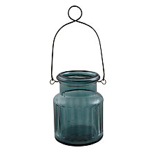 Buy John Lewis Hanging Jar Tealight Holder, Blue Online at johnlewis.com