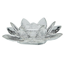 Buy John Lewis Crystal Waterlily Tealight Holder Online at johnlewis.com