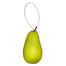 Buy John Lewis Decorative Pear with Leather Leaf Online at johnlewis.com