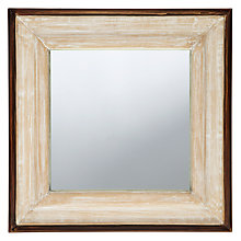 Buy John Lewis White Washed Mirror, 45 x 45cm Online at johnlewis.com