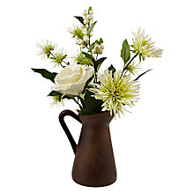 Buy Roses and Berries in a Jug, Mini, White Online at johnlewis.com